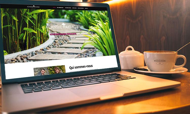 Site web ACANTHE PAYSAGE