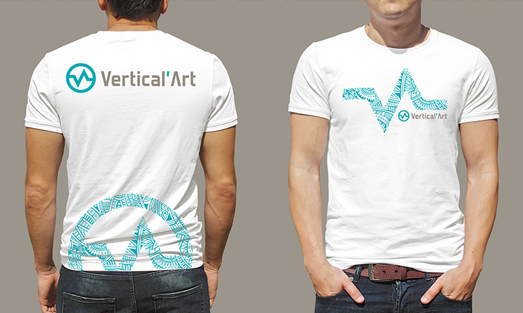 T-shirt Vertical Art